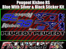 Peugeot Kisbee RS Decals/Stickers Blue Silver Black Multicolour